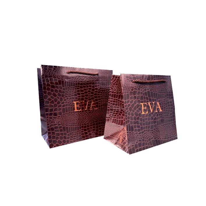 Bolsas de papel de lujo - pelleq-croco